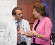 El Dr. Llovet amb Dª Isabel Oriol
