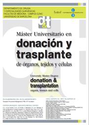 Máster en Donación y Transplante