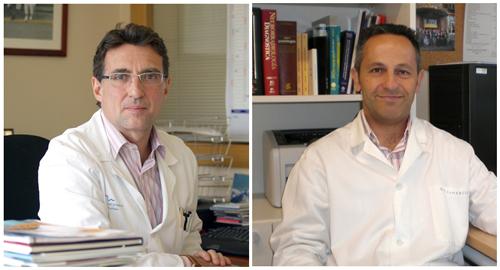 El Dr. Manuel Comabella y el Dr. Xavier Montalbán